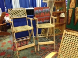 WHITE ASH FOLDING DIRECTOR CHAIRS